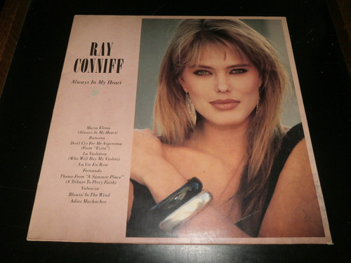 lp ray conniff, always in my heart, disco vinil, ano 1987