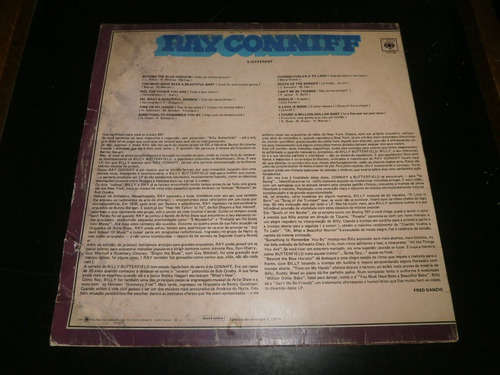 lp ray conniff apresenta butterfield - 's different, 1971