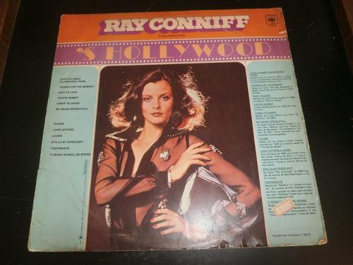 lp ray conniff e orquestra - ´s hollywood, disco vinil, 1971