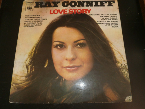 lp ray conniff e os cantores - love story, disco vinil 1971