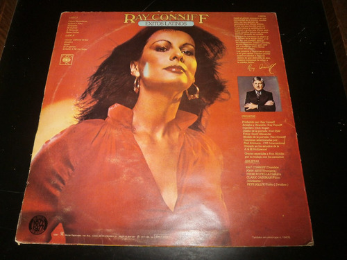 lp ray conniff - exitos latinos, abrazáme, disco vinil 1977