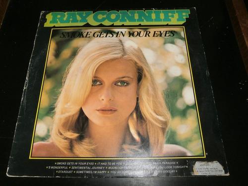 lp ray conniff - smoke gets in your eyes, vinil bom estado