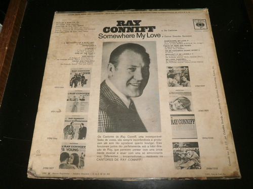 lp ray conniff, somewhere my love, disco vinil, ano 1966
