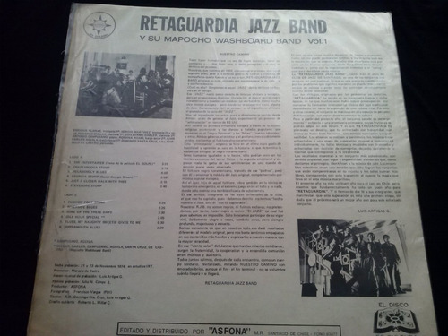 lp retaguardia jazz band años 1920 1930