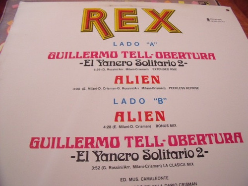lp rex guillermo tell obertura,
