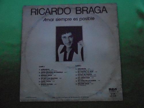 lp ricardo braga p/1978- amar siempre és posíble -en cas/...