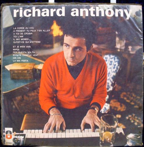 lp richard anthony - la mia festa  odeon 1965 capa sanduiche