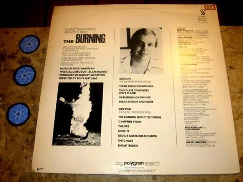 lp rick wakeman ( yes ) - burning (1982) trilha filme