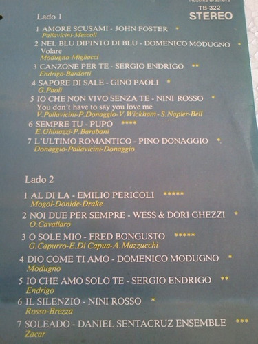 lp ricordi 14 romanticas italianas 1979 endrigo pupo pericol