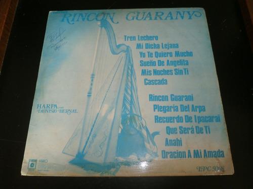 lp rincon guarany - dionisio bernal, disco vinil
