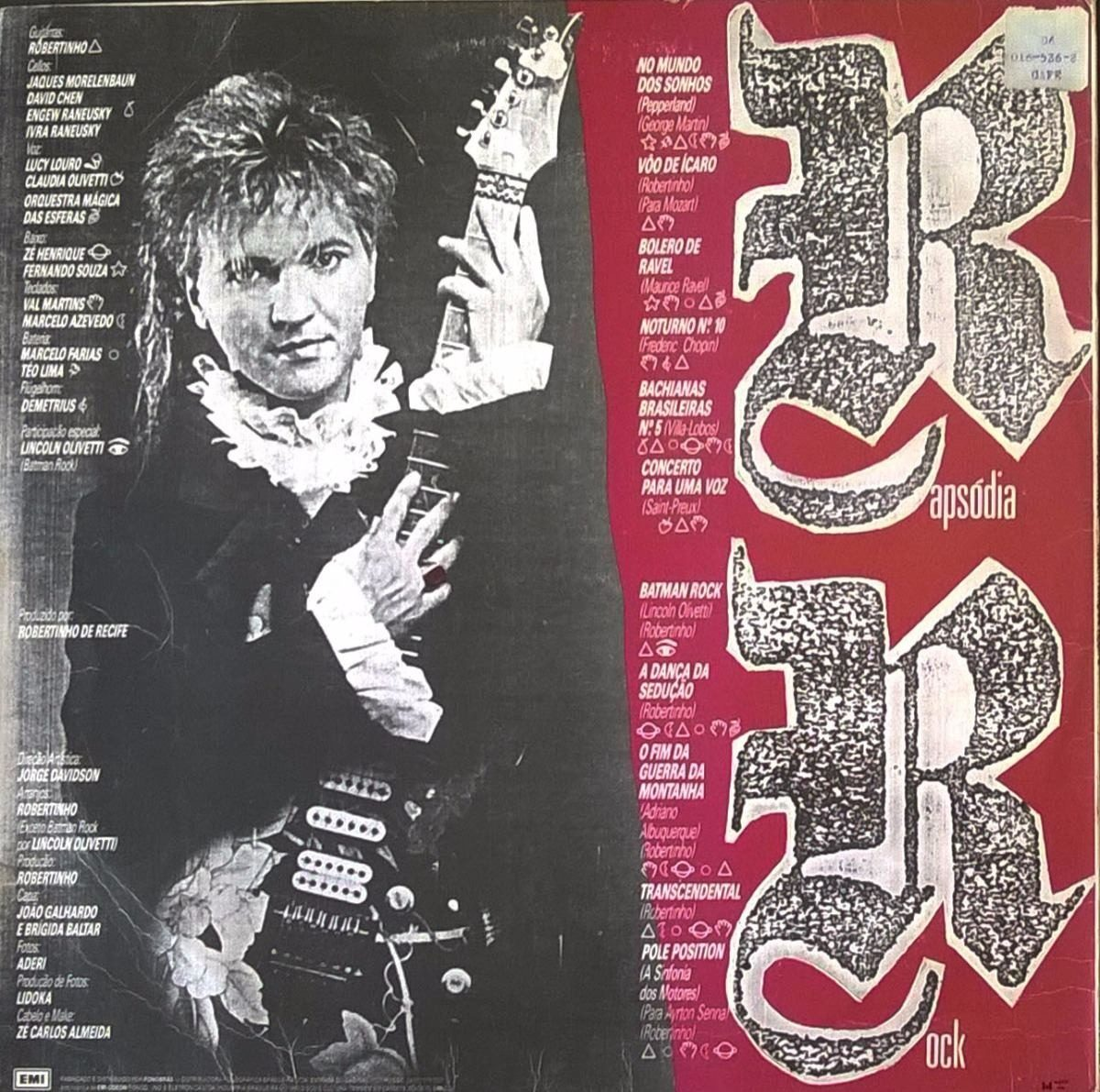 Lp Robertinho De Recife Rapsodia Rock 1990 Vinil Emi Odeon