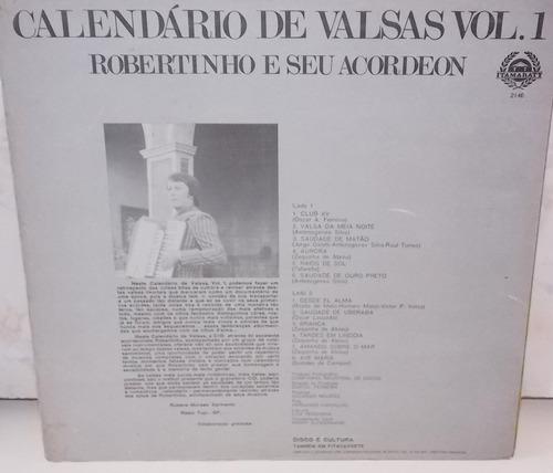 lp  robertinho e seu acordeon calendário de valsas vol. 1
