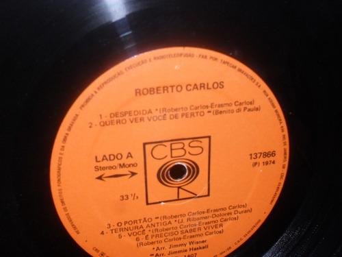 lp-roberto carlos 1974 capa  laminada  despedida