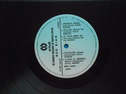 lp roberto carlos p/1978 grand suces interpret.deo riam