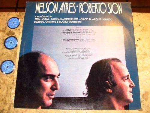 lp roberto sion nelson ayres - musica jobim caymmi (198?)