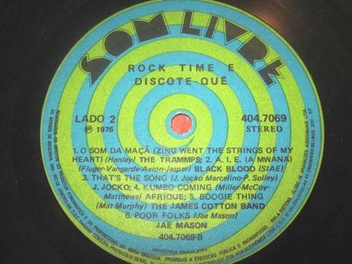 lp rock time discote-que (1976) trammps james cotton afrique