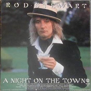 lp rod stewart a night on the town  made usa warner 1976