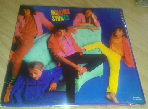 lp rolling stones dirty work 1986
