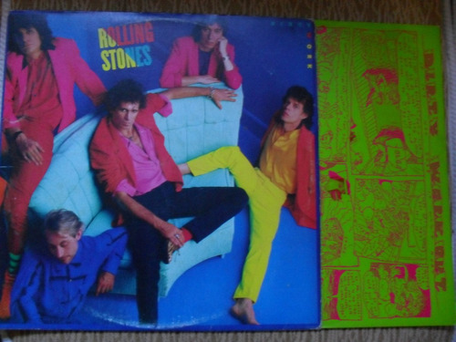 lp - rolling stones dirty work com encarte
