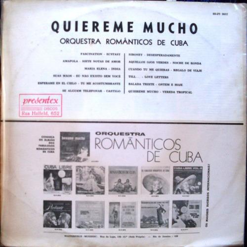 lp românticos de cuba orquestra quiereme mucho - musidisc