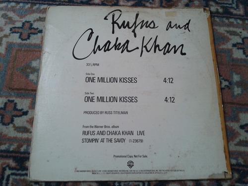 lp rufus e chaka khan importado promo - one million kisses