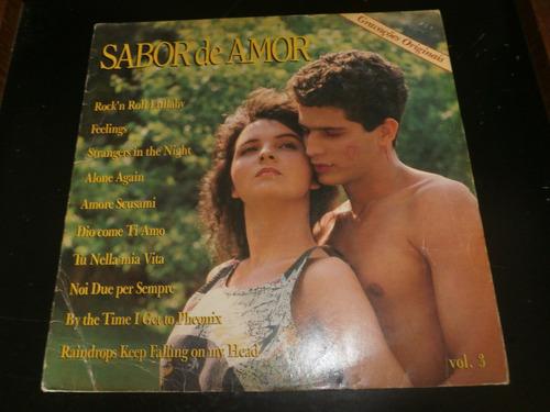 lp sabor de amor vol.3, vários cantores, disco vinil, 1988