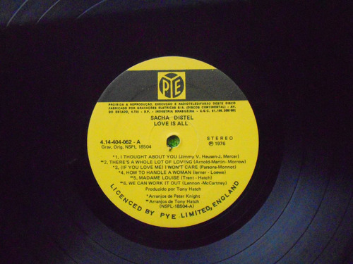 lp sacha distel p/1976- love is all