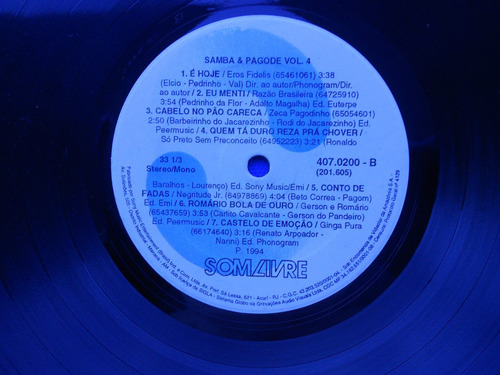 lp samba e pagode p/1994- volume 04