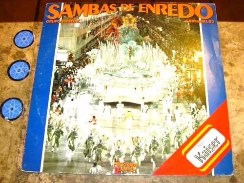 lp sambas enredo 92 (1991) padre miguel beija-flor mangueira