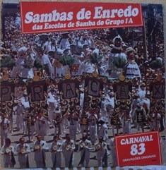 lp sambas enredo  escolas samba do grupo 1a - carnaval 83