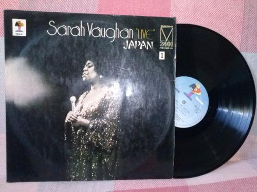 lp   sarah vaughan      live in japan