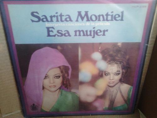lp sarita montiel interpreta  la pelicula esa mujer 1969