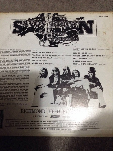 lp savoy brown