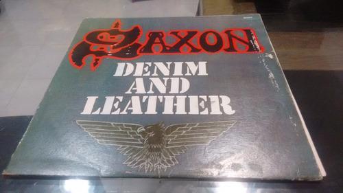 lp saxon denim and leather en acetato,long play