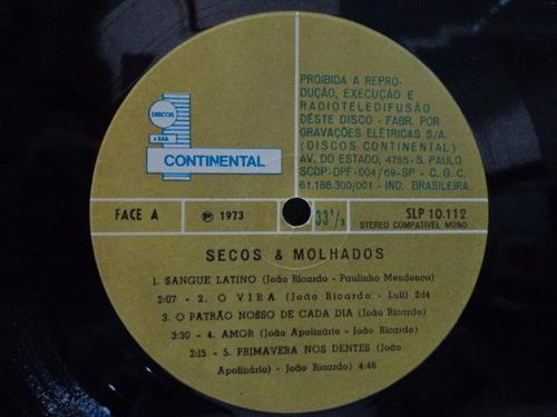 lp secos & molhados-continental-1973-c/encarte