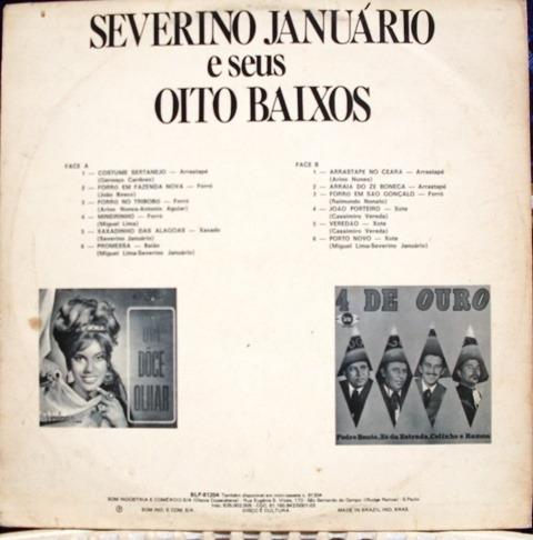 lp severino januário e seu oito baixos - cartaz discos