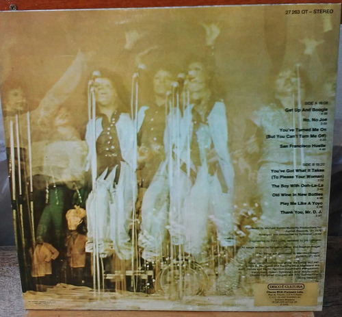 lp silver convection get up and boogie com poster 1976