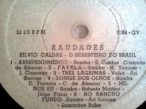 lp silvio caldas saudades o seresteiro do brasil radio