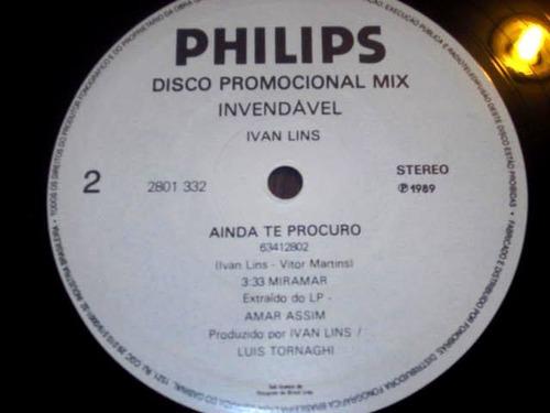 lp single ivan lins - ainda te procuro (89) disco mix promo