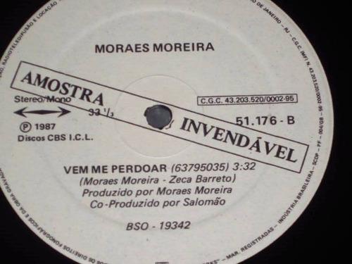 lp single moraes moreira - vem me perdoar (1987) c/ encarte