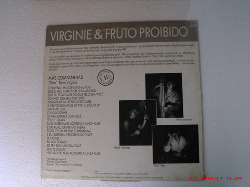 lp (single promo) - virginie & o fruto proibido