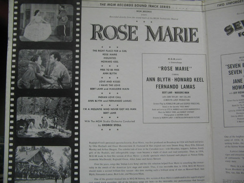 lp sound track rose marie