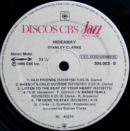 lp stanley clarke - hideaway - 1986