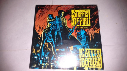 lp streets of fire soundtrack,acetato,long play