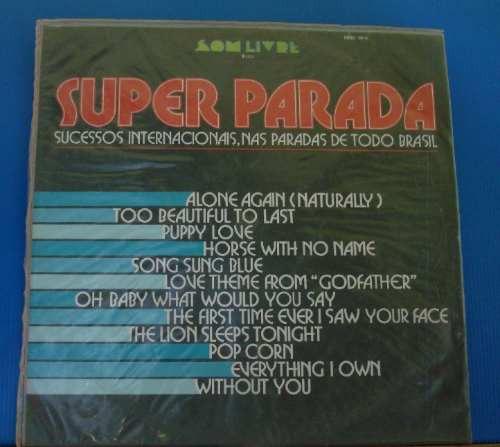 lp - super parada sucessos  internacionais 1972 - stereo