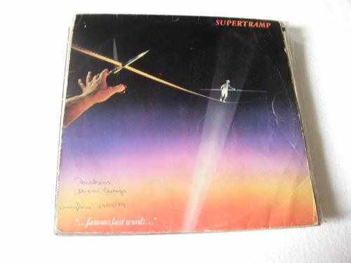 lp supertramp - famous last words - 1988