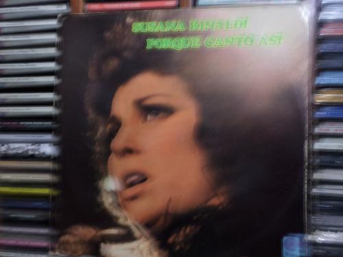lp susana rinaldi - porque canto asi tango (importado)