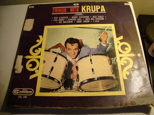 lp swingin with krupa gene krupa vinilo impecable