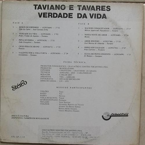 lp taviano e tavares (verdade da vida)