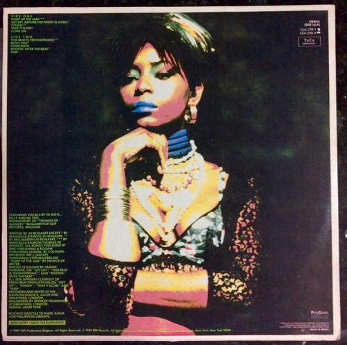 lp technotronic  the álbum  pump up the jam - 1990 nacional